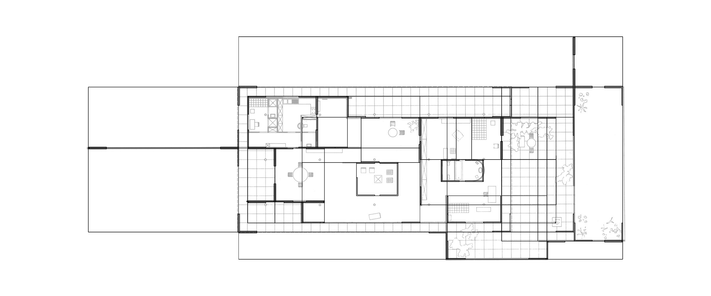 Mies Remix superimposed plan