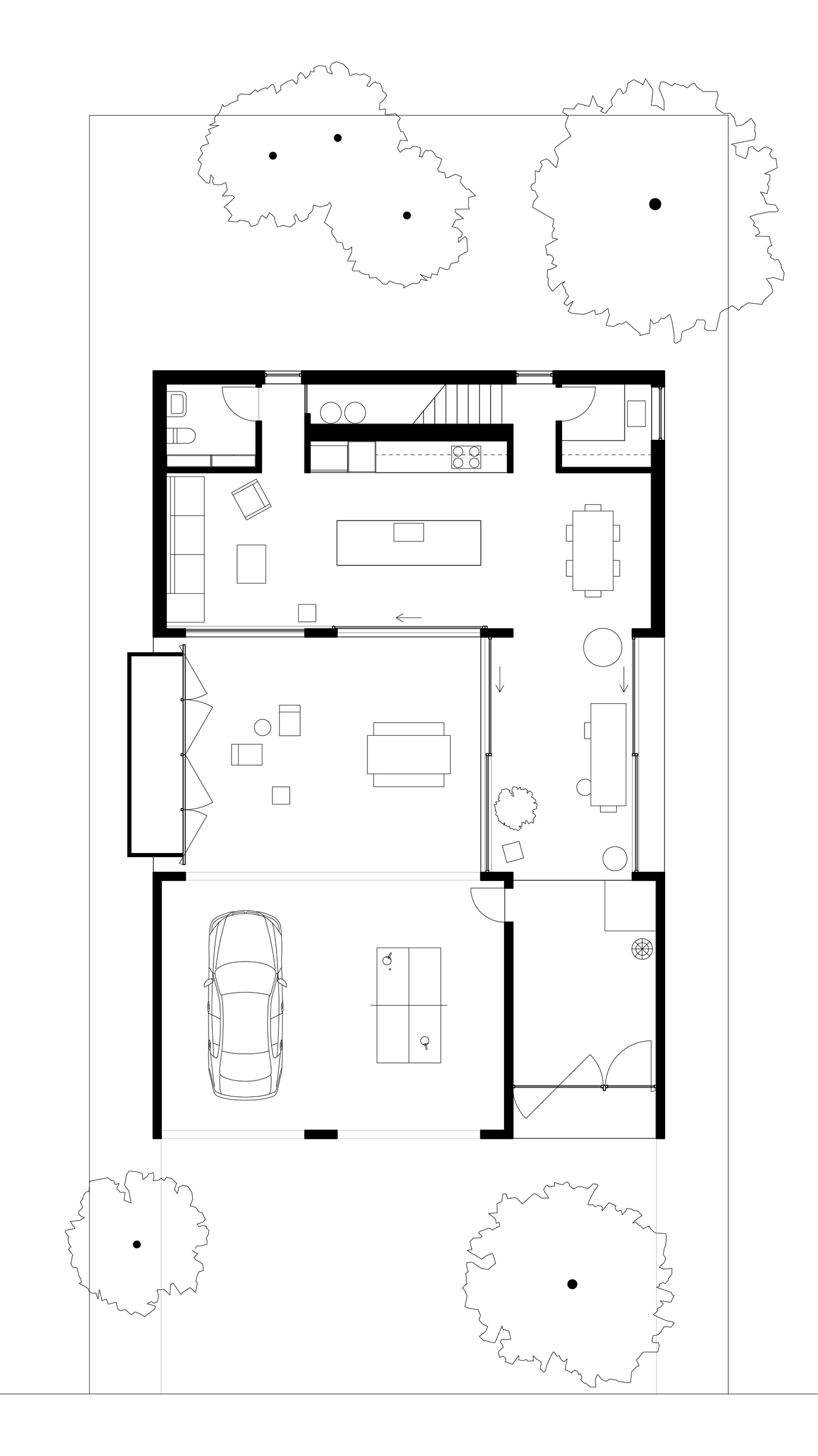 West Linn House ground floor plan
