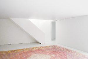 Alberta House. Living room stair