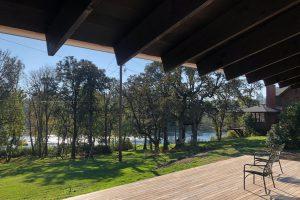 Divine House. Deck view towards the McKenzie River