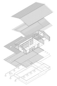 Divine House. Exploded structural isometric