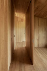Divine House. Hallway and guest area