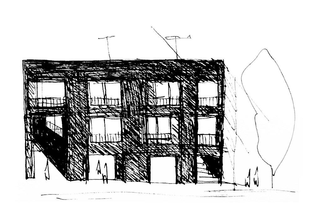 Division Street building sketch