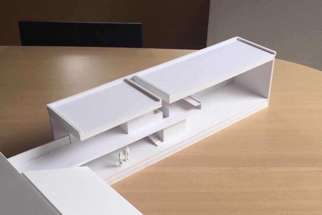 East Amazon Studio. Shed scheme model