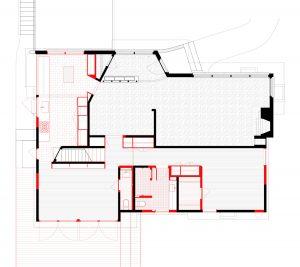 Irvington House. New ground floor plan