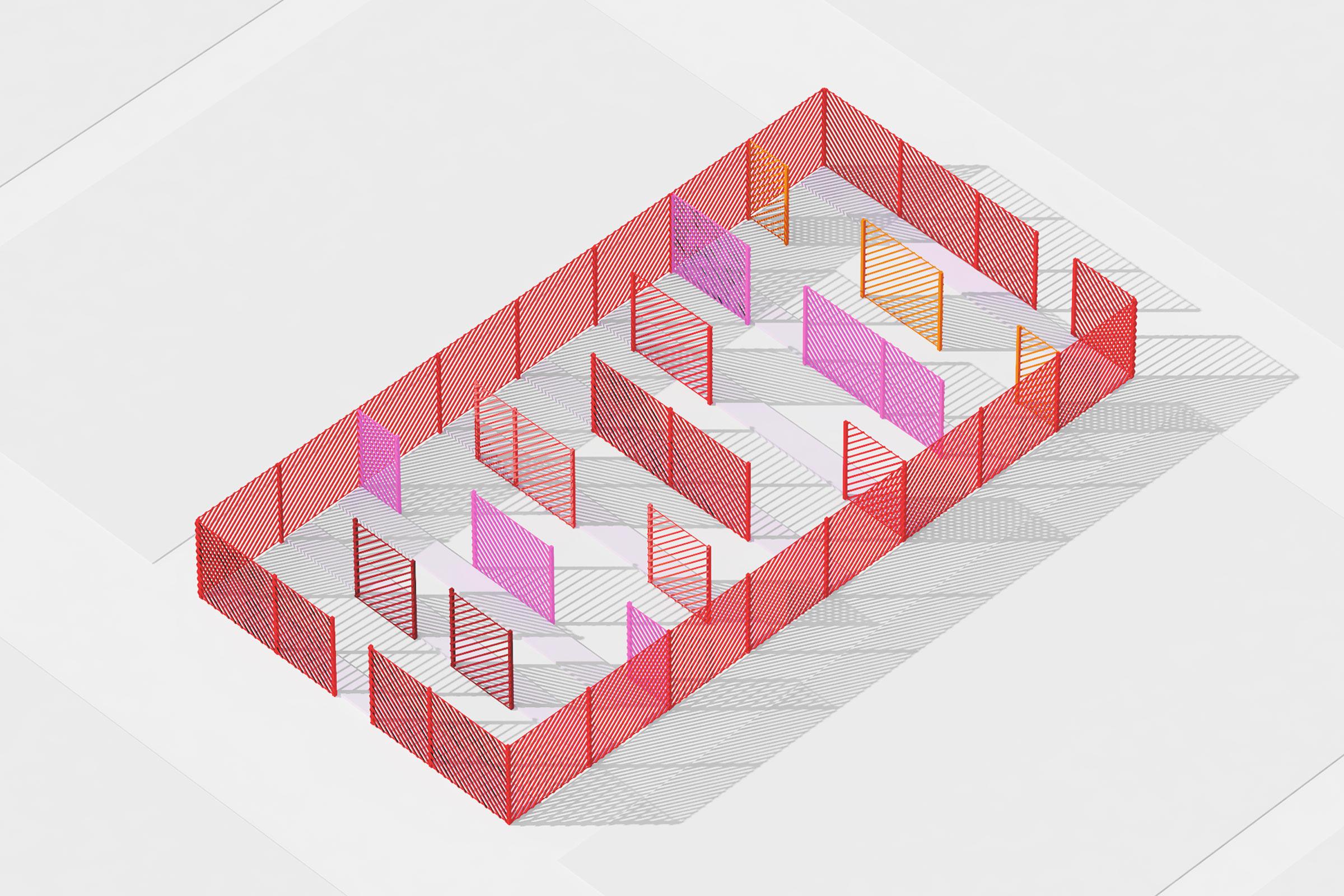 Jardins de Métis. Isometric rendering