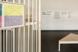 Josef Albers Exhibition. Detail with wall text