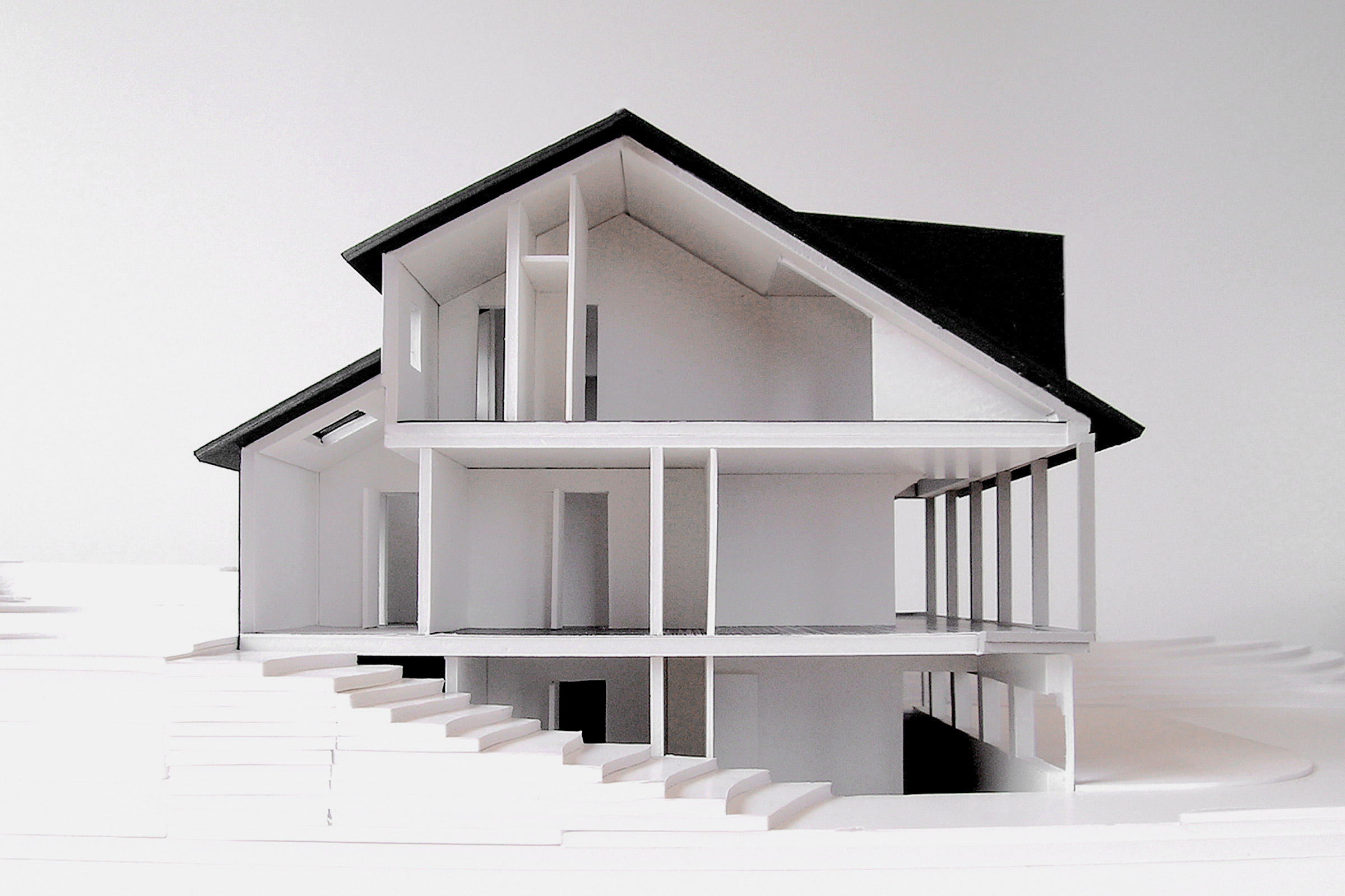 Lincoln Beach House. Section model of the main house