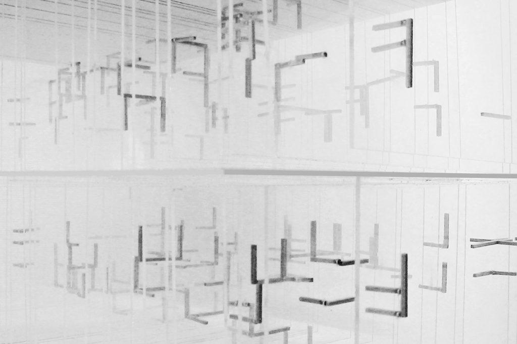 Mies Remix. Model, oblique view
