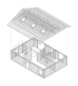 Novak House. Framing isometric