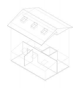 Novak House. Organizational isometric