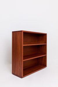 Red Bookcase. Oblique view