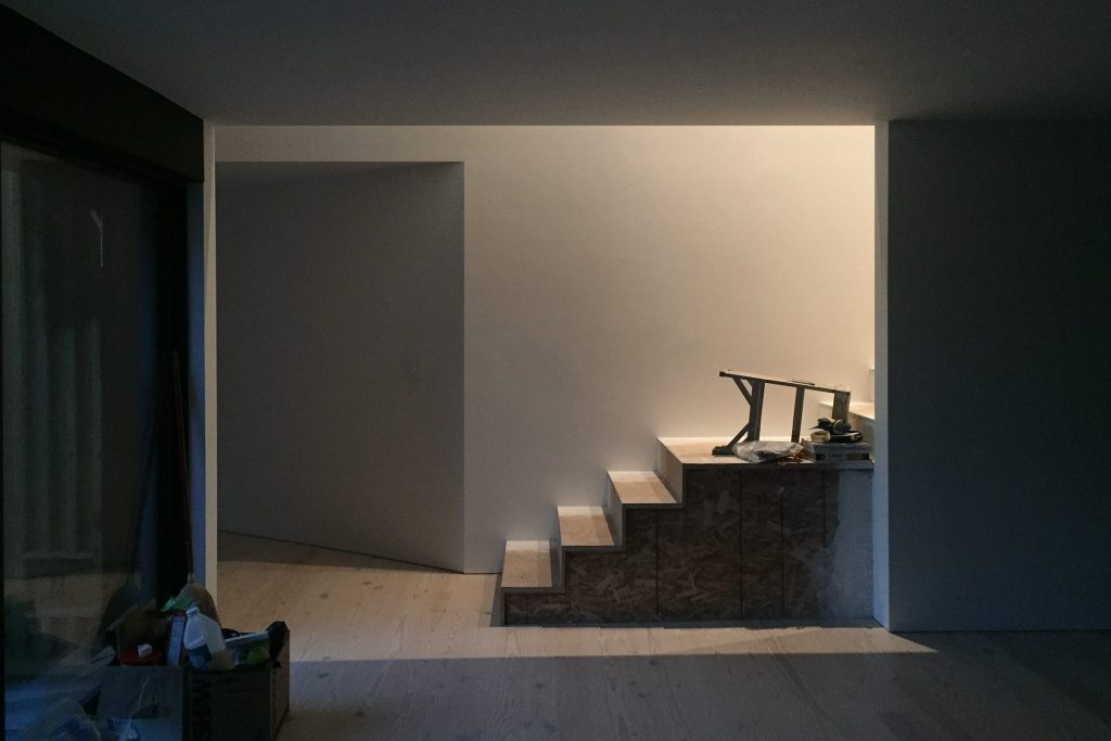 Shelton House. Stair detail