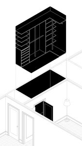 Wooden Closet. Exploded isometric